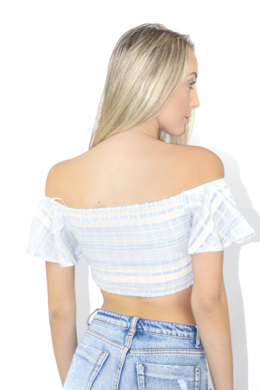 Becky Off The Shoulder Laceup Tube Top
