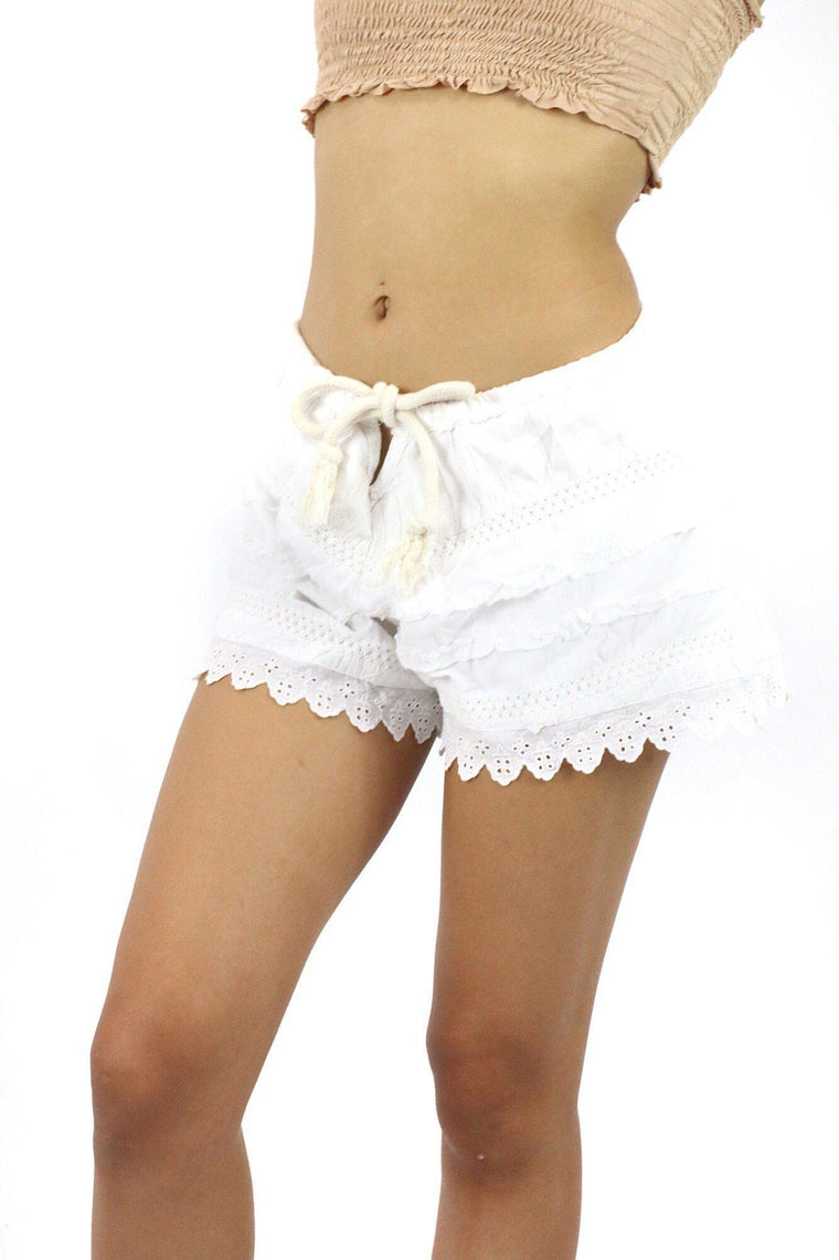 White Water Lace Shorts