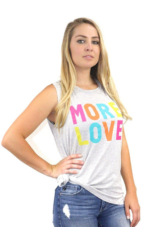 More Love Graphic Sleeveless Tee