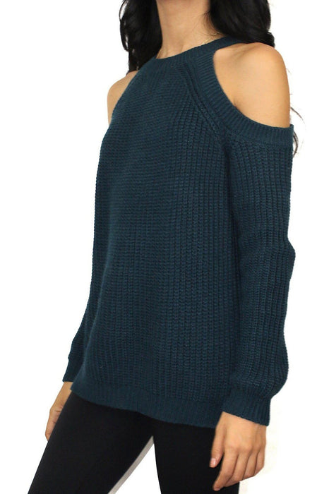 Rachel Cold Shoulder Sweater