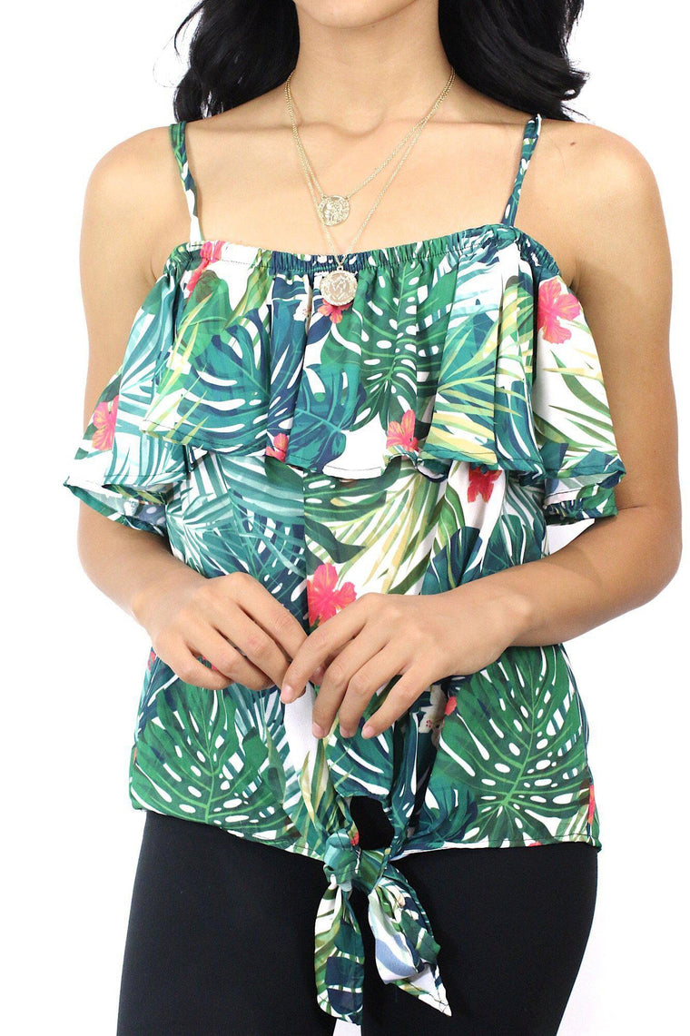 Afternoon Escape Tropical Top