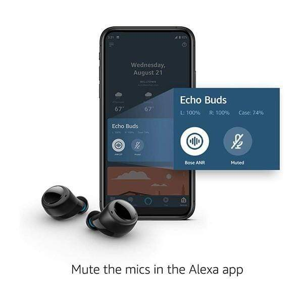 Amazon Echo Buds – Wireless earbuds with immersive sound, active noise reduction, and Alexa