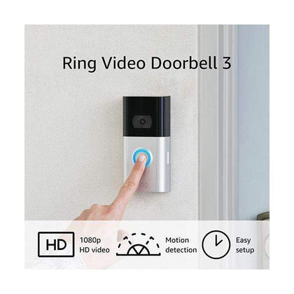 Amazon Security & Surveillance Systems Black / Brand New / 1 Year Ring Video Doorbell 3 – enhanced wifi, improved motion detection, easy installation