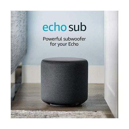 Amazon Echo Sub - Powerful subwoofer for your Echo - requires compatible Echo device