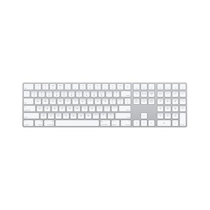 apple MAC Accessories Silver / 1 Year Apple Magic 2 Keyboard with Numeric Keypad (Bluetooth, Rechargable) (US English), MQ052