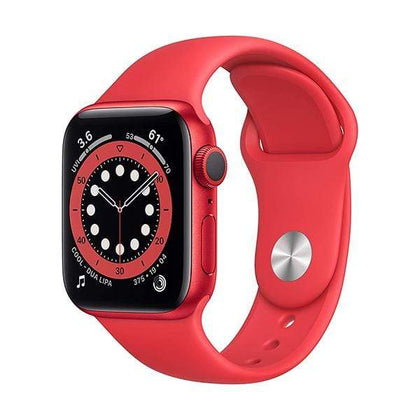Apple Smartwatch, Smart Band & Activity Trackers Red Aluminum Case with Red Sport Band / Brand New / 1 Year New Apple Watch Series 6 (GPS, 40mm)