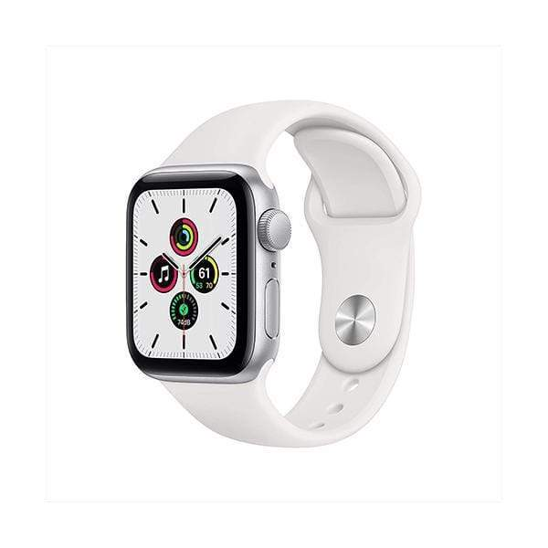 Apple Smartwatch, Smart Band & Activity Trackers Silver Aluminum Case with White Sport Band / Brand New / 1 Year New Apple Watch SE (GPS, 40mm)
