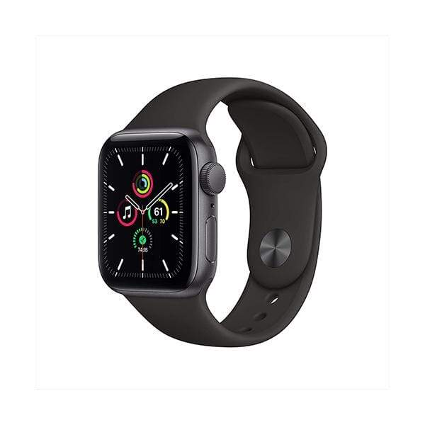 Apple Smartwatch, Smart Band & Activity Trackers Space Gray Aluminum Case with Black Sport Band / Brand New / 1 Year New Apple Watch SE (GPS, 40mm)