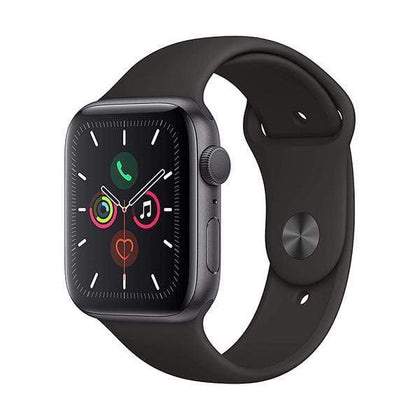 Apple Smartwatch, Smart Band & Activity Trackers Space Gray Apple Watch Series 5, 44mm, GPS, Aluminum Case with Sport Band, watchOS 5
