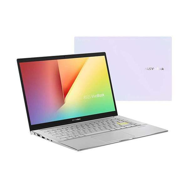 Asus Laptops Dreamy White / Brand New / 1 Year Asus Vivobook S14 S433FL Laptop, Intel i7-10510U 1.8 GHz, 8GB RAM, 512GB SSD, Shared VGA, 14 inches Full HD, Fingerprint, Windows 10, Eng-Arb-KB