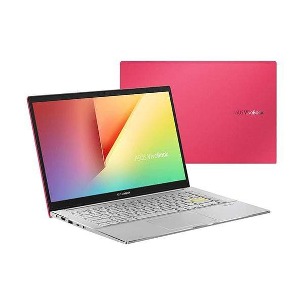 Asus Laptops Resolute Red / Brand New / 1 Year Asus Vivobook S14 S433FL Laptop, Intel i7-10510U 1.8 GHz, 8GB RAM, 512GB SSD, Shared VGA, 14 inches Full HD, Fingerprint, Windows 10, Eng-Arb-KB
