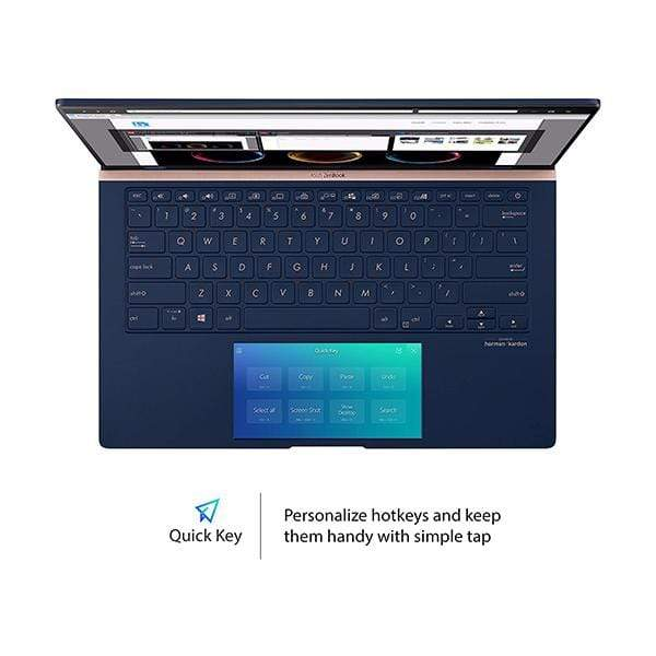 "Asus Laptops Royal Blue / Brand New / 1 Year Asus ZenBook 14 Ultra-Slim Laptop 14"" Full HD NanoEdge Bezel, Intel Core i7-10510U, 16GB RAM, 1TB SSD, GeForce MX250 2GB, Innovative Screenpad 2.0, Windows 10 Pro, UX434FLC"