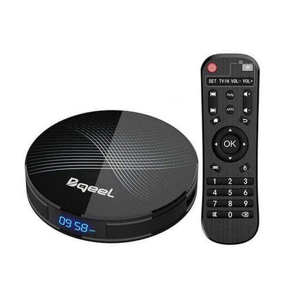 Bqeel Streaming Media Players Android 9.0 SMART TV Box 4GB RAM 64GB ROM, RK3318 Quad-Core 64bits Dual-WiFi 2.4G-5.0G,3D Ultra HD 4K H.265 USB 3.0 BT 4.0