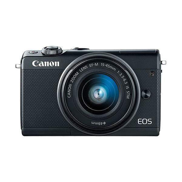 Canon EOS M100 Mirrorless Digital Camera (Black) + 15-45mm Lens - Wi-Fi, Bluetooth, and NFC Enabled