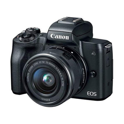Canon EOS M50 Mirrorless Digital Camera (Black) + EF-M 15-45mm Lens 4K Video
