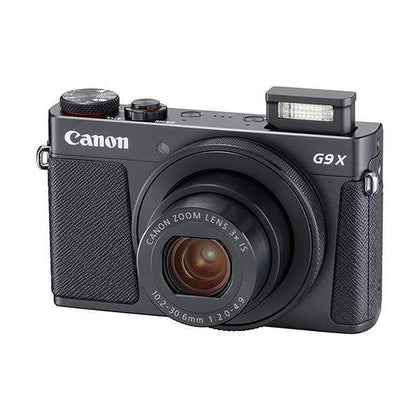 Canon PowerShot G9X X Mark II Compact Digital Camera (Black) with 1 Inch Sensor and 3inch LCD - Wi-Fi, NFC, Bluetooth Enabled (Black), 6.30in. x 5.70in. x 2.50in.