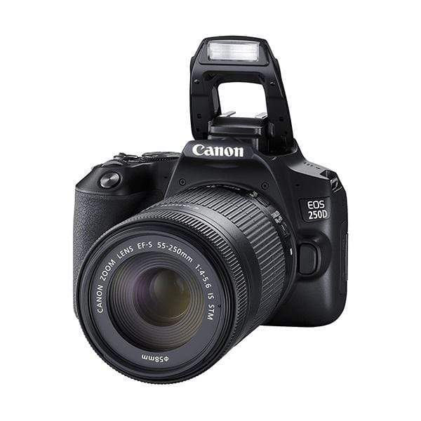 Canon EOS 250D Digital SLR Camera (Black) + Canon EF-s 18-55mm f/4-5.6 IS STM Lens + 64GB Memory Card + Carry Bag + Tripod
