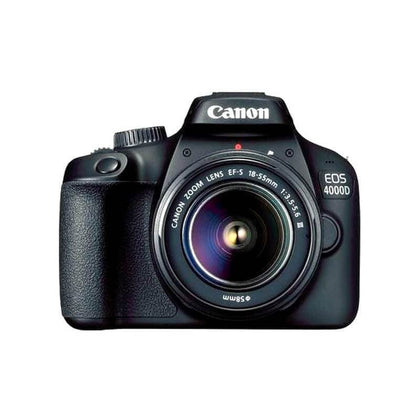 Canon EOS 4000D 18MP Digital SLR Camera (Black) + 18-55mm III Lens + Memory Card 64GB + Carry Bag + Tripod