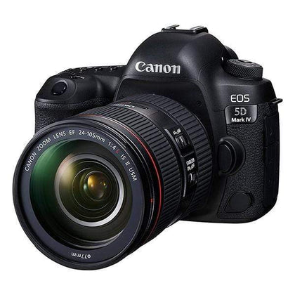 Canon EOS 5D Mark IV Full Frame Digital SLR Camera (Black) with EF 24-105mm f/4L is II USM Lens Kit
