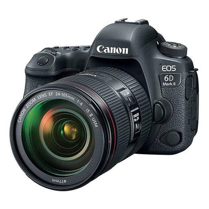 Canon EOS 6D Mark II Digital SLR Camera (Black) + 24-105mm f/4L II Lens