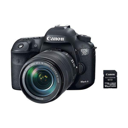 Canon EOS 7D Mark II Digital SLR Camera (Black) + 18-135mm f/3.5-5.6 IS USM Lens + W-E1 Wi-Fi Adapter