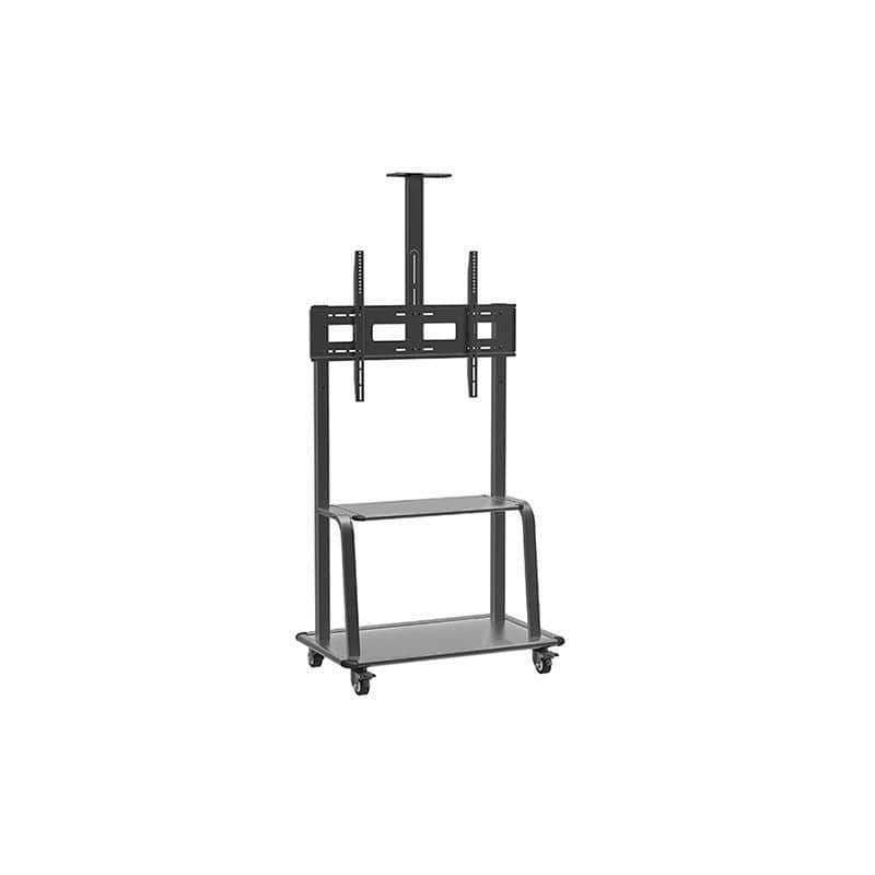 Conqueror Moving Floor Stand with Shelf for LED - LCD - Plasma TV 32''-80'' - HFL4