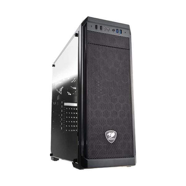 Cougar MX330-G Mid Tower Case with Full Tempered Glass Window and USB 3.0