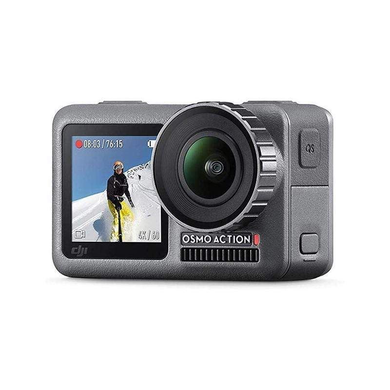 DJI Osmo Action Cam Digital Camera with 2 Displays 36FT-11M Waterproof 4K HDR-Video 12MP 145° Angle Black