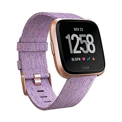 Fitbit Smartwatch, Smart Band & Activity Trackers Lavender Woven / Brand New / 1 Year Fitbit Versa Special Edition Smart Watch, Aluminium, One Size, Small & Large Bands included, NFC