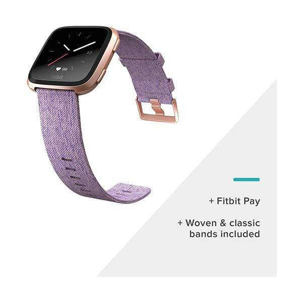 Fitbit Versa Special Edition Smart Watch, Aluminium, One Size, Small & Large Bands included, NFC