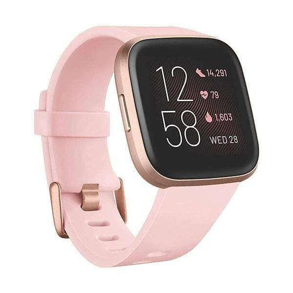 Fitbit Smartwatch, Smart Band & Activity Trackers Petal/Copper Rose / Brand New / 1 Year Fitbit Versa 2 Health & Fitness Smartwatch, NFC, Heart Rate,Music,Alexa Built-in,Sleep & Swim Tracking, One Size (S & L Bands Included)