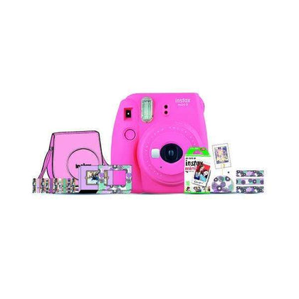 Fujifilm Point & Shoot Flamingo Pink Fujifilm Instax Mini 9 Instant Camera Bundle