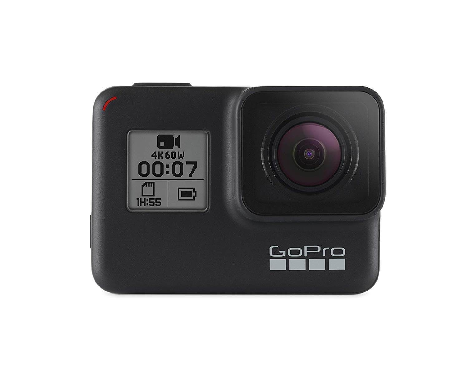 GoPro HERO7 Black - Waterproof Digital Action Camera with Touch Screen 4K HD Video 12MP Photos Live Streaming Stabilization