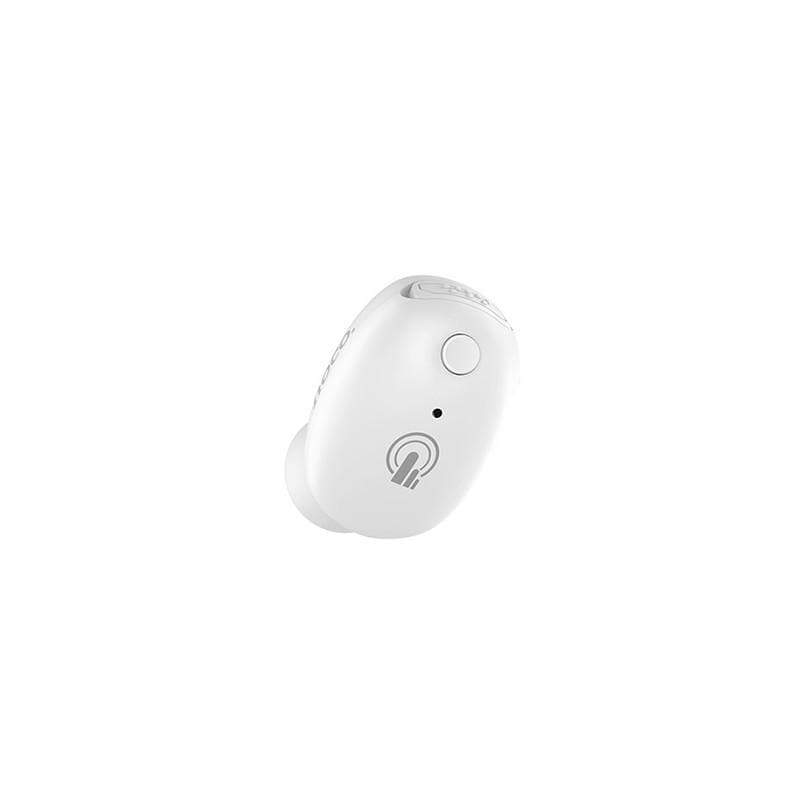 Wireless headset MINI INVISIBLE «E24 Ingenious sound» earphone with mic - White color
