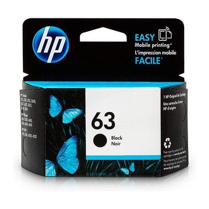 HP Printer Ink, Toner & Supplies Black / Original HP 63 | Ink Cartridge | Black | F6U62AN