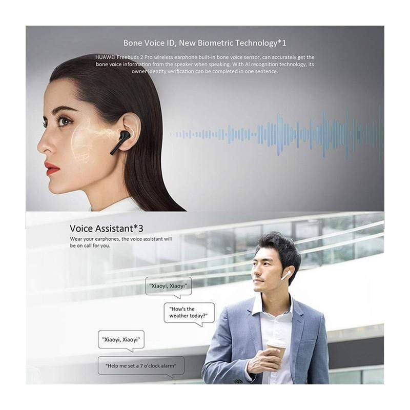 Huawei FreeBuds 2 Pro Wireless Earphone Bone Voice ID Smart Voice Control Wireless Charge BT5.0 IP54 Waterproof Headphones