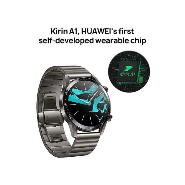 Huawei Watch GT 2 2019 with Stainless Steel Band Titanium Grey Limited Edition, 2 Weeks Battery Life, Waterproof, 46mm