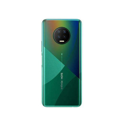 Infinix Mobile Phone Forest Green / Brand New / 1 Year Infinix Note 7, 4GB/128GB, 6.95 Inch IPS LCD Screen, Octa core CPU, Rear Cam Quad 48MP + 2MP + 2MP + 2MP + Quad LED Flash, Selfie Cam 16MP, Fingerprint (side-mounted) + Free Jelly Case + Protective Film