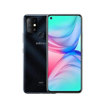 Infinix Mobile Phone Obsidian black / Brand New / 1 Year Infinix Hot 10, 4GB/128GB, 6.78 Inch IPS LCD Screen, Octa core CPU, Rear Cam Quad 16MP + 2MP + 2MP + QVGA + Quad LED Flash, Selfie Cam 8MP, Fingerprint (rear-mounted) + Free Jelly Case + Protective Film