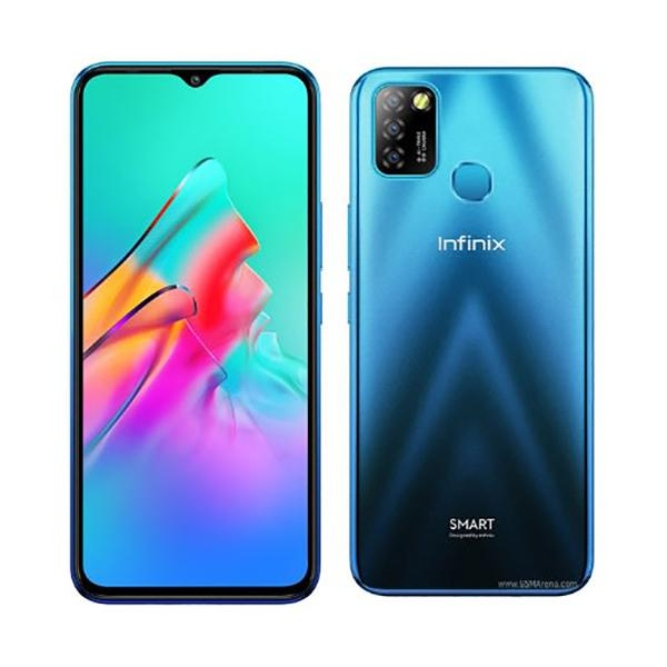 Infinix Mobile Phone Ocean Wave Infinix Smart 5, 2GB/32GB, 6.6 Inch IPS LCD Screen, Quad core CPU, Dual Rear Cam 8MP + 2MP, Selfie Cam 8MP, Fingerprint (rear-mounted) + Free Jelly Case + Protective Film