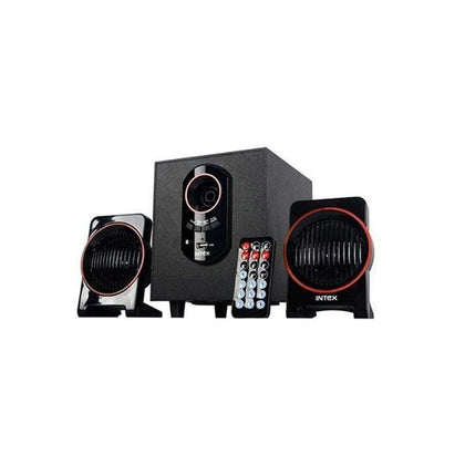 Intex IT-1600U 2.1 Channel multimedia speaker compatible with USB AUX audio input compatible with DVD-PC-LCD TV