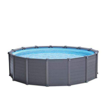 (INTEX)(AGP) GRAPHITE PANEL POOL SET D.4.78*1.24m Round S16