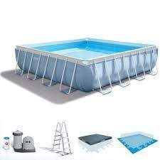 (INTEX)(Agp)Prism Frame Square Pool Set 4.27x4.27x1.07m S18