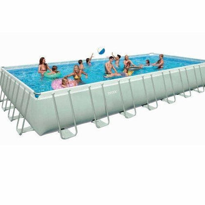 (INTEX)(agp)ULTRA FRAME rectangular POOL SET 975X488X132cm S16