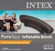 (INTEX)SPA Inflatable Bench for Round Jet 28422 Black s17