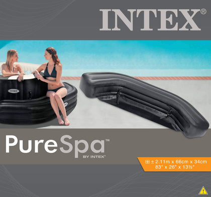 (INTEX)SPA Inflatable Bench Octagon - Black 2.11x0.66x0.34m s17
