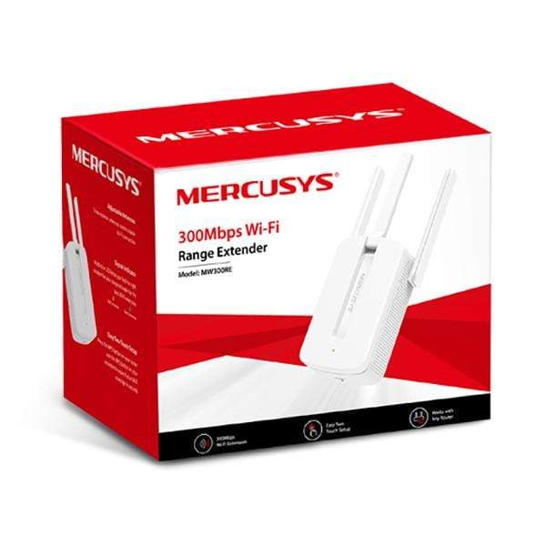 Mercusys Networking White / Brand New / 1 Year Mercusys 300Mbps Wi-Fi Range Extender - MW300RE