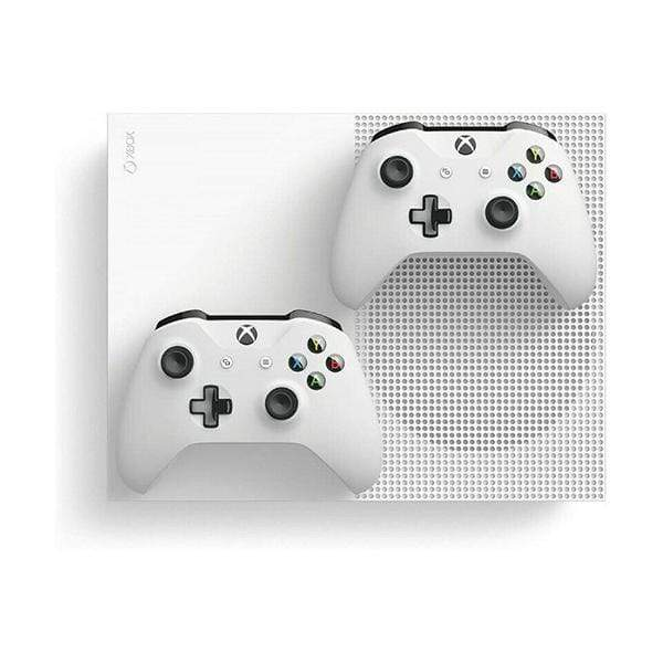 Microsoft Xbox One S, Two-Controller Bundle, 1TB Console, White