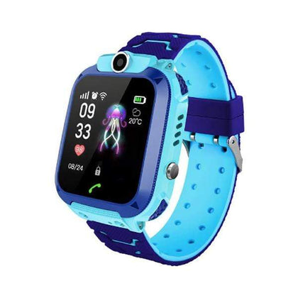 Mobileleb.com Blue Children Q12 Kids Smart Watch Model Q12, Child Wristwatch Water Resistant IPX4 GPS LBS, Voice Chat, GPS Finder Locator Tracker, Anti Lost Monitor