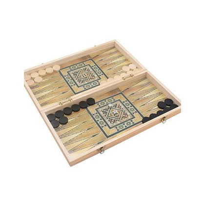 Wooden Folding Backgammon Board